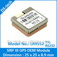 SiRF star III GPS RS232 LR9552 GPS Antenna module gps module with inbuilt antenna