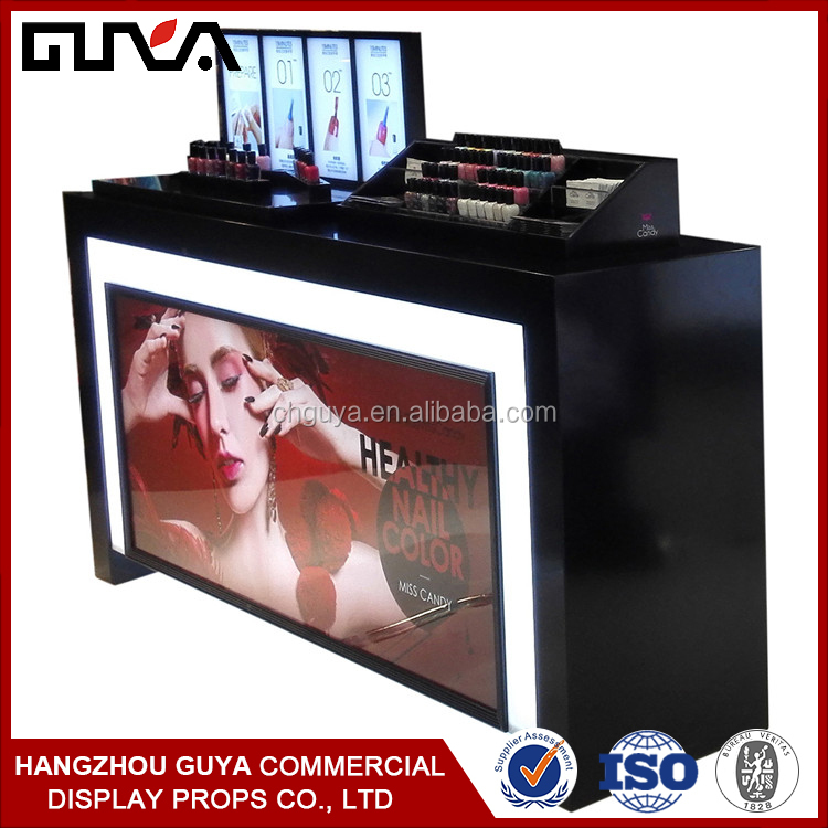 Acrylic material customized furnitures for cosmetic display