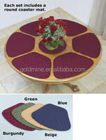 7pcs quilted round table dinner mat