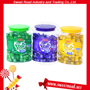 Fruit Flavor Milk Cube Candy