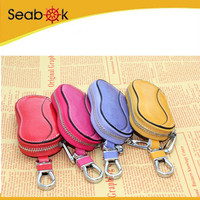 Characteristic genuine leather car key holder beautiful type&color