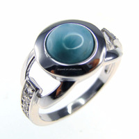 Solid 925 Sterling Silver Larimar Engagement