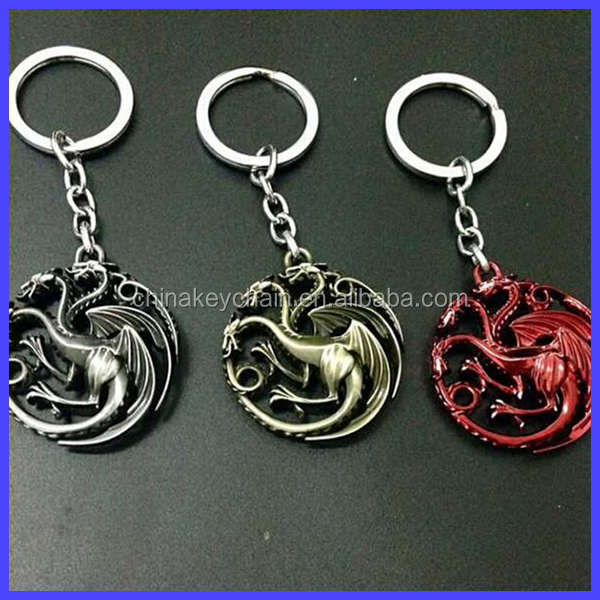 New Arrival Keychain Game of Thrones Targaryen Dragon Badges Gift Personal Keychain