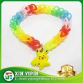 DIY Mix Color Silicone Braided Wristbands Elastic Fun Loom Rubber Bands with Fashion Jewellery