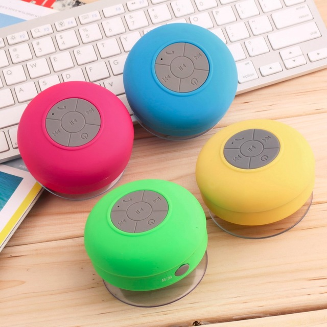 Hot on Ebay Amazon Rechargeable Portable Wireless Bluetooth Stereo Waterproof Shower Horn Sucker Speaker