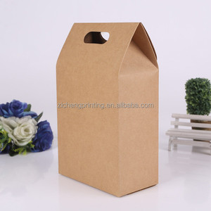 Recyclable Disposable Environmental Protection Custom Kraft Paper Bag Packaging For Food
