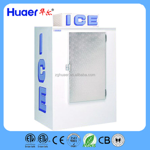 Huaer bag ice storage bin Indoor/outdoor/Ice Merchandiser , ice shop equipment with Slant Front - Auto Defrost