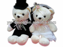 Small Size Love Couple Wedding Teddy Bear Wearing Wedding Dress for Valentine's Day