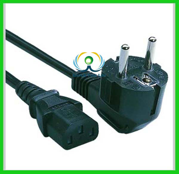 European Type AC PC Y Power Cord Cable