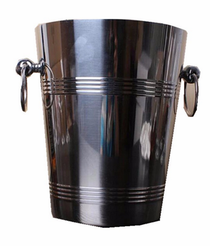 2017 Stainless steel metal ice bucket with handle