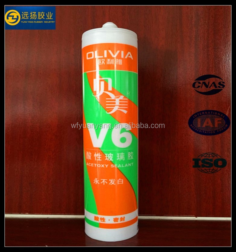 Fast Cure Acetoxy Silicone Sealant For Acid Etched Glass