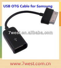 Hot Sale Black Female USB OTG Cable Adapter for Samsung Galaxy Tab 10.1/8.9/P7500/P7510