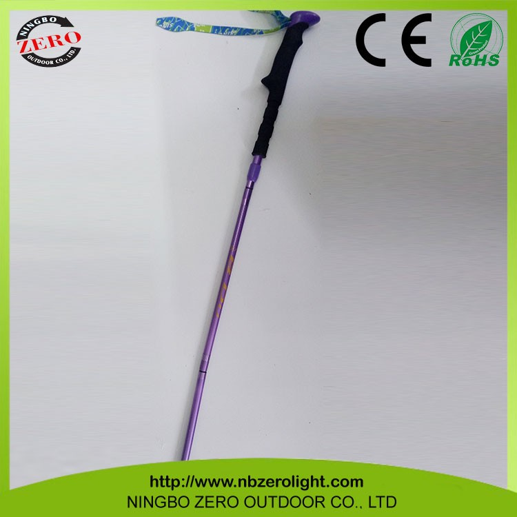 Professional Manufacture Cheap Carbon Fiber Quick Lock Nordic Walking Mountaineering Sticks