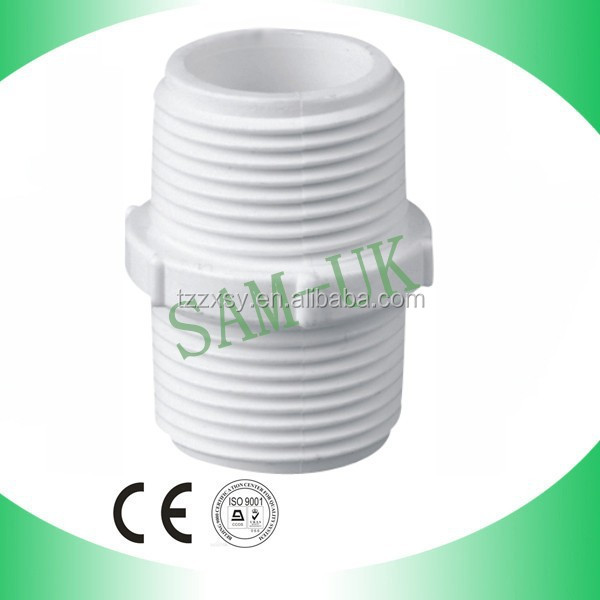 pvc nipple male adapter pvc threaded coupling
