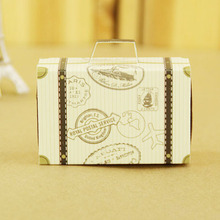 Vintage suitcase gift box wedding favor kraft paper box