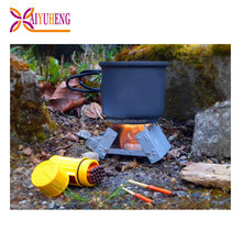 outdoor small wood pellet stove for camping & hiking cooking