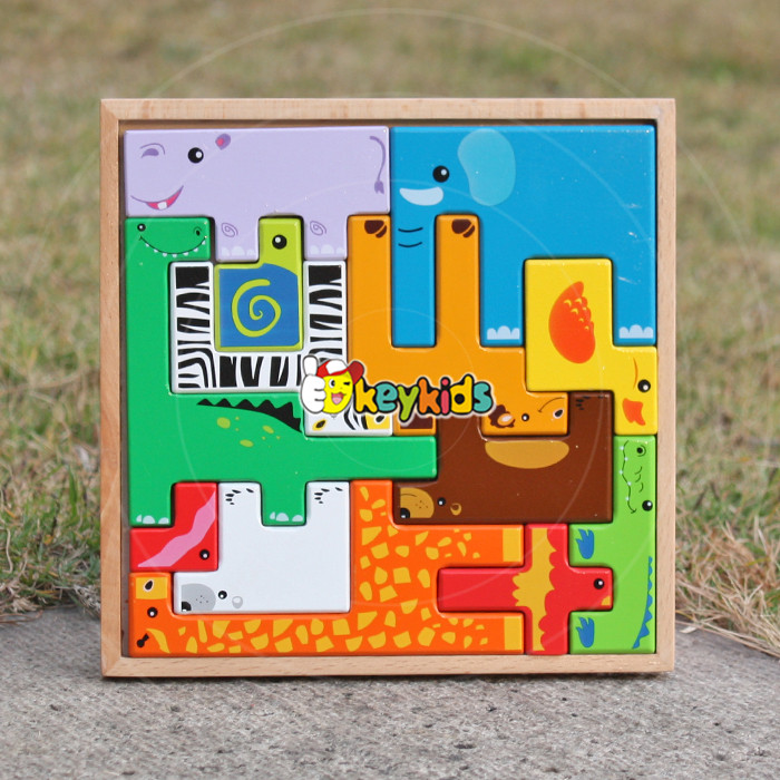 2017 wholesale animals wooden jigsaw puzzles for sale baby wooden jigsaw puzzles for sale kids jigsaw puzzles for sale W14A109