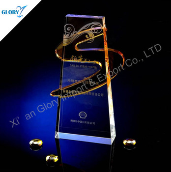 Customized logo 3d laser engraving trophy and sports made in China