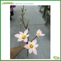 artificial light pink magnolia flower long stem with buds