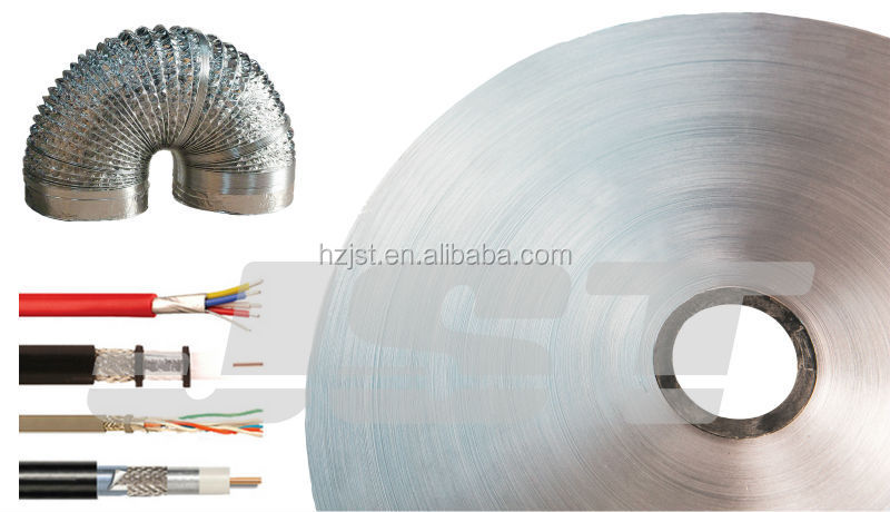 Light Blue Self Adhesive Cable Foil Bonded Aluminum Laminated PET Foil Aluminum Lamination Film