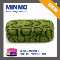 high quality custom hard green snake skin leather sunglasses case,sunglasses display case,case sunglasses