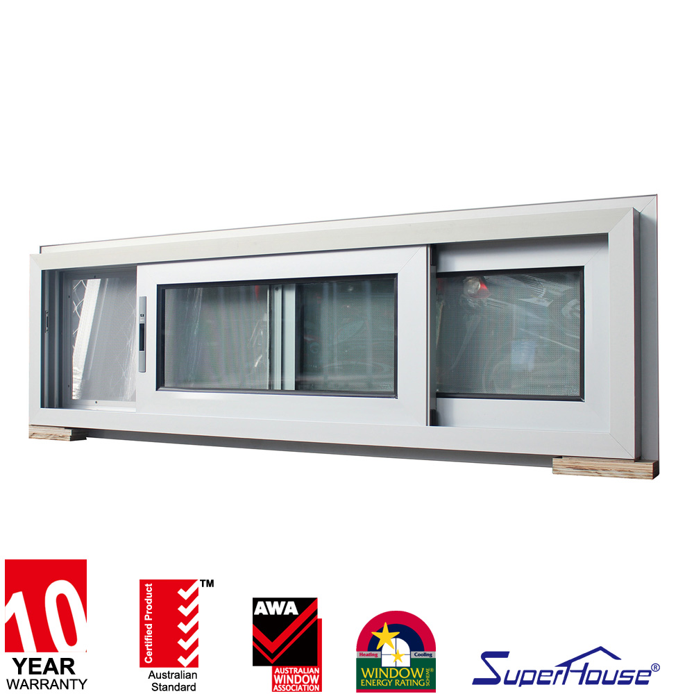 Australia AS2047 standard safety grill design aluminium windows white powder slider made in China