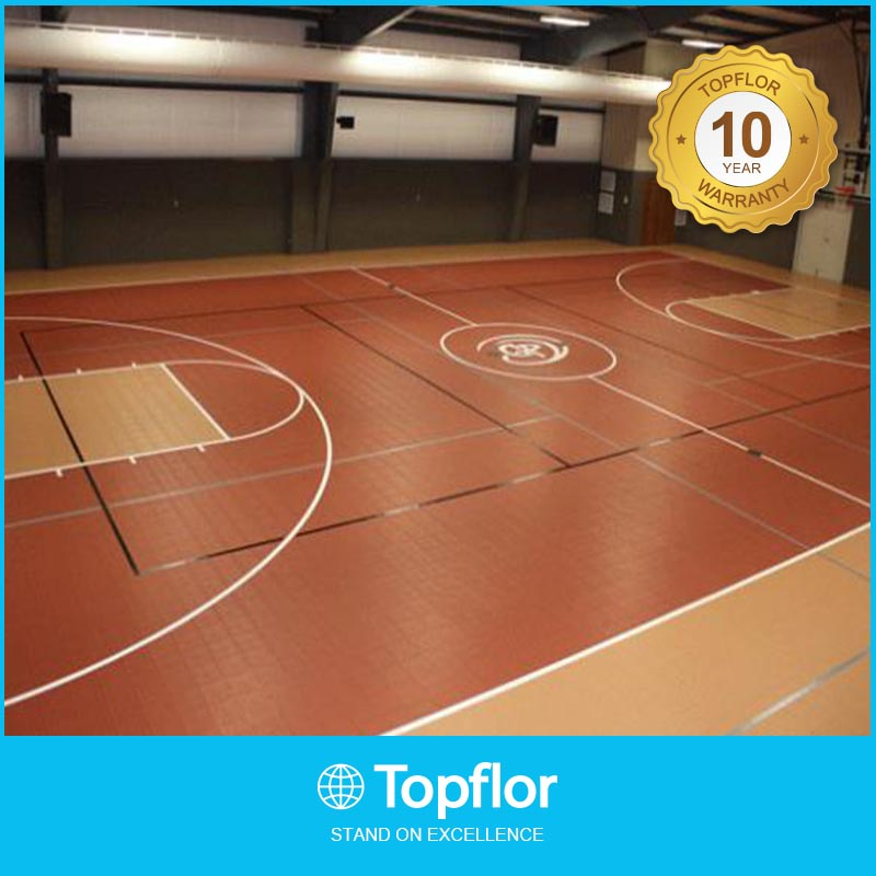 High quality Pvc Sports Flooring Of Indoor Basketball used