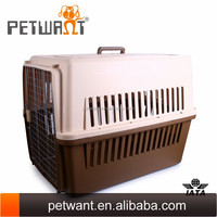 Excellent large size dog carriers pet cage plastic house