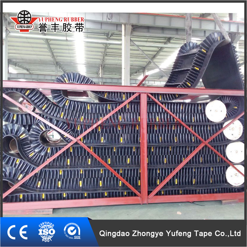 Customized Rigidity Sidewall Conveyer Belt used conveyor belt