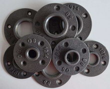 1/2'' 3/4'' black malleable iron floor flange