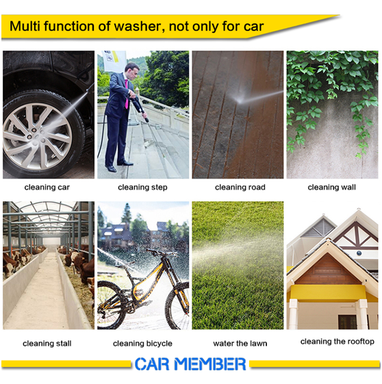 2018 New product NINE CONTINENT portable high pressure car washer for hot sale