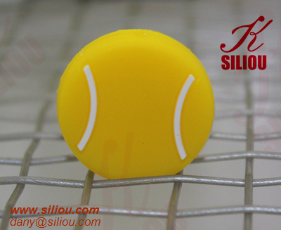 special logo customized silicone tennis string vibration dampener