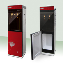 Decorative double door floor standing water cooler with ozone sterilizer cabinet