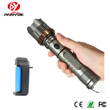 Factory wholesale directly zoomable military self defense tactical torch led flashlight