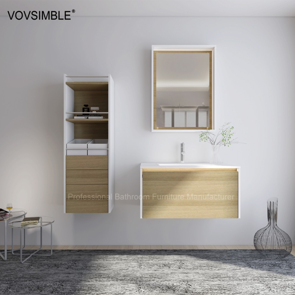 Commercial Mdf Temporary Vanity Bathroom Cabinet Wiht Led Light Buy Commerc