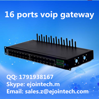 Ejointech Asterisk dynamic IMEI and Bs wireless ussd 16 channel sms and calling gsm voip signalling gateway controller