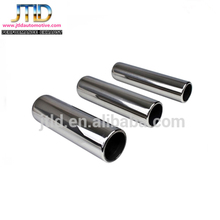 Texas Series Pencil Round Rolled Edge Straight Cut Exhaust Tip