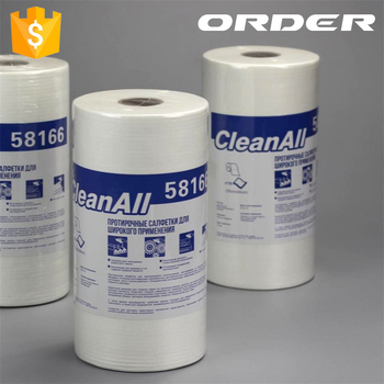 56gsm/60gsm/65gsm white small roll creped embossed polycell airlaid industrial wipes