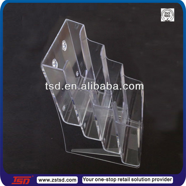 TSD-A634 Hot sale acrylic table top a4 a3 a5 brochure holder,acrylic flyer holder,plastic wall mounted brochure stand
