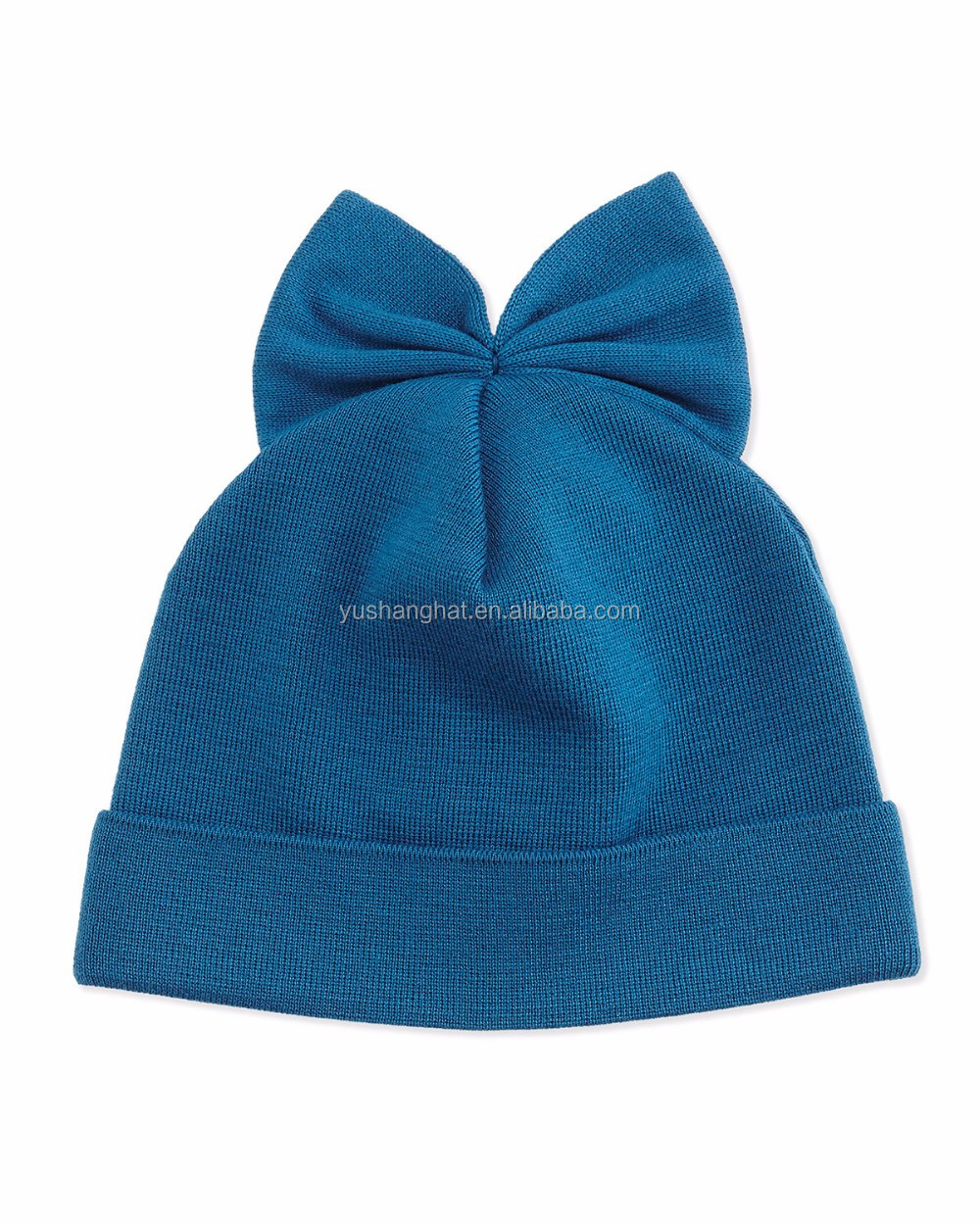 China factory various color girl cute beanie with bowtie for sell