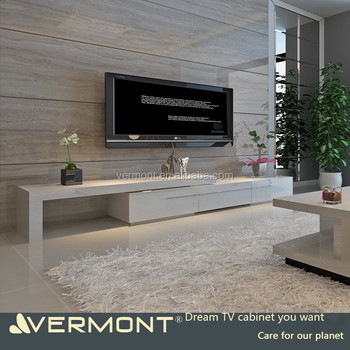 2018 Modern Customized Long TV Cabinets with LED Lights
