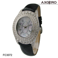 New style lady chain crystal leather watch! beautiful crystal watch China factory wholesale