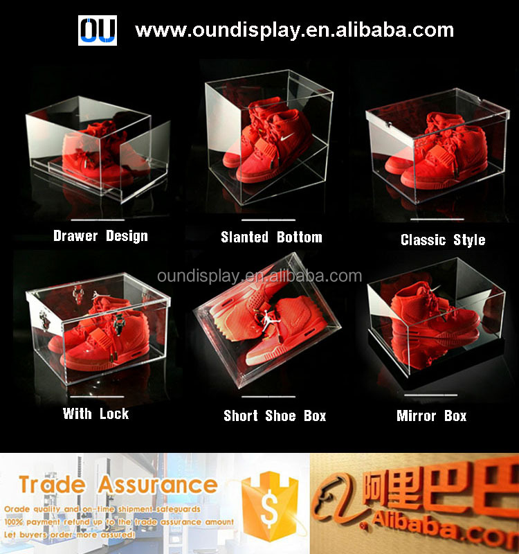 clear plexiglass women nike shoes boxes custom stackable women walking shoes box