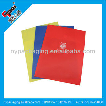 Factory plastic car file folder cover with fastener