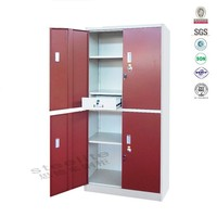 Pink metal lockers / metal locker / metal foot locker