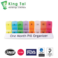 28 Day Pill Box Organizer - Sedex, FDA, ANAB, ISO Accredited Pill Organizer