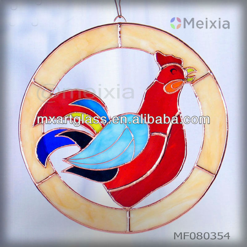 MF080354 china wholesale stained glass craft wall hanging window decoration suncatchers for home decoration piece