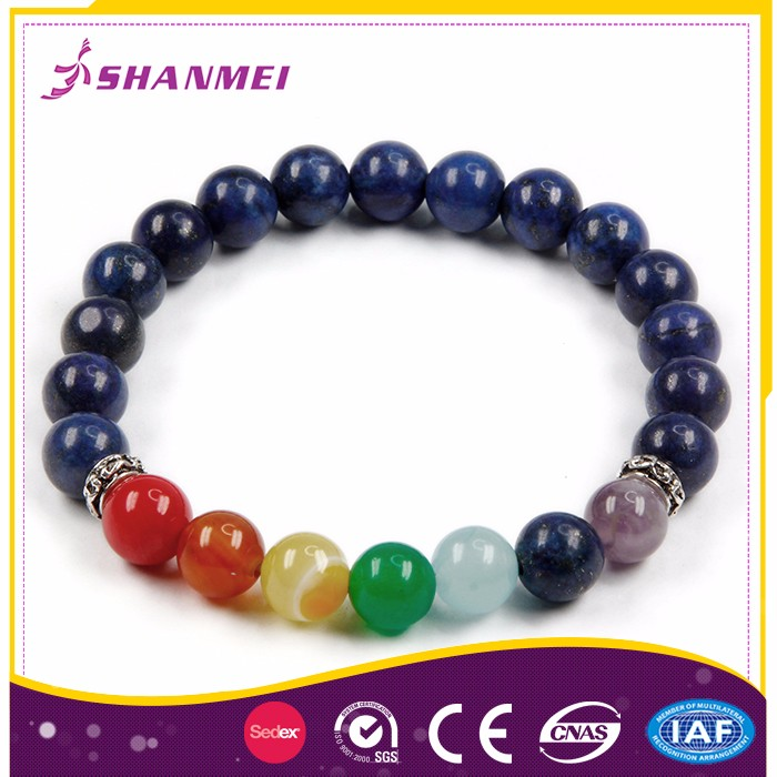 Assessed Manufacturer South Africa Market Decorative Chakra Beads Bracelet