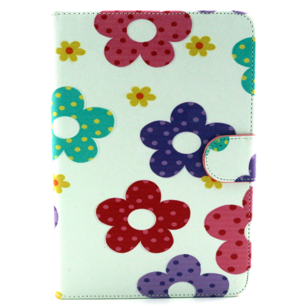 Fashion cartoon cell phone case pu leather case for ipad, custom protective case