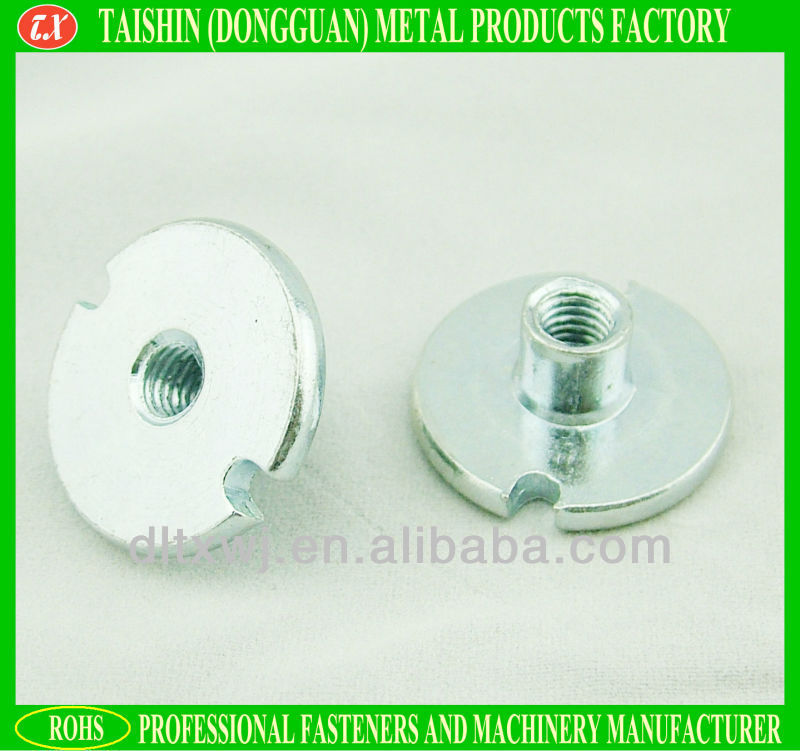 Special Flat Head Sheet Metal T Nut with 2 cuttings